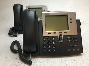 Lot of 2 Cisco CP-7942G IP VoIP Telephone Unified IP Business Phone