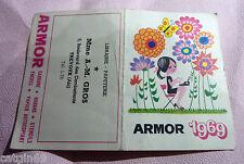 calendrier de poche ARMOR 1969