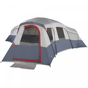20 Person 4 Room Cabin Tent With 3 Separate Entrances Fits 6 Queen Air Mattress