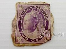 Antique Canadian Victorian Purple Two Cent Stamp 1897