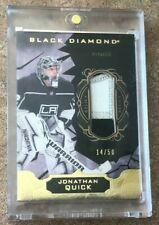2018-19 UD Black Diamond Relics Pure Black Premium #BDB-JQ Jonathan Quick 14/50