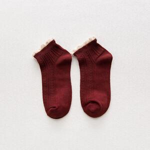 Fashion Women Cotton Lace Ruffles Socks Spring Summer Girl Ankle Socks Hosiery