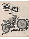 Pubblicità 1970 MOTO MOTOR DAVID CROSS CASALINI advertising werbung publicitè