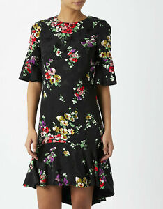 MONSOON Tunic Dress ANNIE uk 8 Blue Floral Pretty Day / Evening BNWT