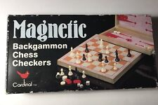 CARDINAL Magnetic Backgammon/Checkers/Chess Travel Game