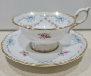 Wedgwood duo -  ribbon and roses - china cup and saucer - deceased estate
