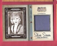 GINGER ROGERS WORN JUMBO SWATCH MATERIALS RELIC CARD #499 2015 AMERICANA DANCER