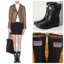 Hunter Limited Edition Rag & Bone Black Zipper Rubber Rain Boots Women 10 EU 42