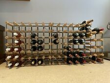 wine rack wood metal