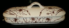 Antique Victorian Ceramic Pottery Vanity Trinket Dresser Box with Rd No79622