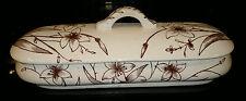 Antique Victorian Ceramic Pottery Vanity Trinket Dresser Box with Rd No79622