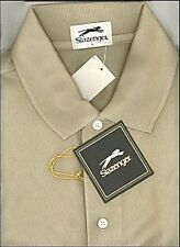 Golf! Slazenger Men;s Resortwear Cotton Pique Cafe Ole Golf Polo  Lg
