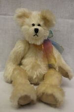 "The Winey Bear Collection Ivory Mohair ""Nettie"" Jointed Bear W/Bow, 13.5"" Tall"