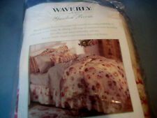 "Waverly Garden Room Twin Bed Skirt Vintage Rose 39""x76"" Nos"