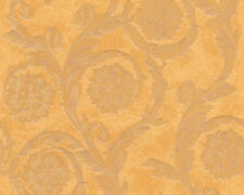 Versace Home Wallpaper 935882 Tapete orangebraun Ornament Satin Barock Vlies