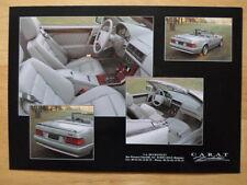 CARAT DUCHATELET MERCEDES SL Class orig c1990 sales brochure - 500SL