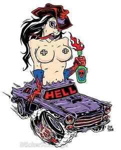 Hell Girl STICKER Decal Poster Artist Alan Forbes AF4