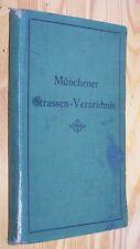 MÜNCHENER Strassen-Verzeichnis # 1930 # mit Behörden-Anhang,Sehenswürdigkeiten