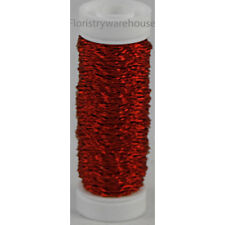 Bullion Wire 25g reel crinkly floristry roll Red