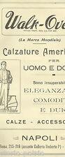 NAPOLI_CALZATURE_SCARPE UOMO E DONNA_CALZE_RARA PUBBLICITARIA_WALK-OVER_ANTICA