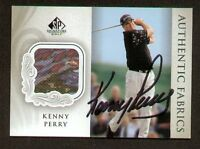 Kenny Perry signed autograph Upper Deck Fabric card
