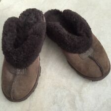 Ugg Australia Brown Shearing Coquette Slippers Clogs Mules US Size 7 S/N 5125