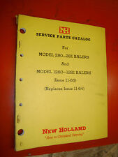 Up To 1966 New Holland Models 280 281 1280 1281 Balers Service Parts Catalog