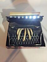 Animated Typewriter Skeleton Hand Lighted Sound Haunted Halloween Prop NEW