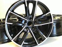 "19"" RS7 STYLE RIMS WHEELS BLACK MACHINED FITS AUDI A4 A5 A7 S7 A8 S8 2017 Q7 VW"