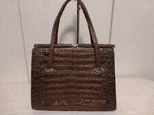 b119dcf68b3c4 True Vintage 60er 60 s Handtasche Kelly Kroko Imitat braun Golden Oldie