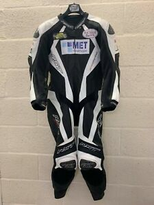 RST Pro Series One Piece Leather Motorcycle Suit EX BSB Irwin No.8 UK 40 Chest