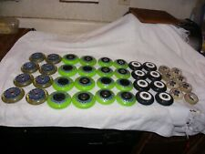 Hyper Hockey Inline Skate Wheels AS IS 40-Pack,Sold as used,As is,Miss sizes lot