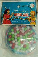 VINTAGE DIME STORE TOY NECKLACE KIT MADE IN HONG KONG 1960s New Old Stock NOS