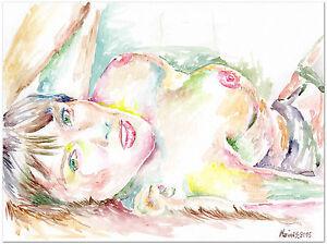 NUDE FEMALE MODEL - Original Acrylic Painting - Artistic nudity  sensual artwork