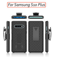 Slim Armor Shell Holster Case Belt Clip Cover fr Samsung Galaxy S10+ PLUS SMG975