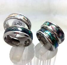 36 Shell Design Stainless Steel Wedding Band Womens Ring Mens Ring lot wholesale