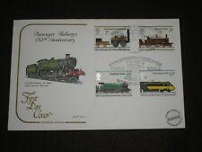 1975 GB Stamps RAILWAYS STOCKTON & DARLINGTON FDC RETURN OF STEAM BUCKFASTLEIGH