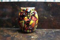 """Fenton Dave Fetty Mosaic Owl - 3.25"""" Tall"""