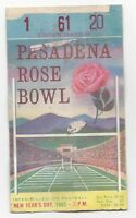 1963 Rose Bowl college football ticket USC Trojans v Wisconsin Badgers paper los