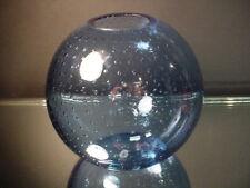 Kralik Art Glass Alexandrite Controlled Bubble Rose Bowl ~ Ball Vase Deco Czech