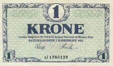 Denmark P-12 1 krone 1921 UNC