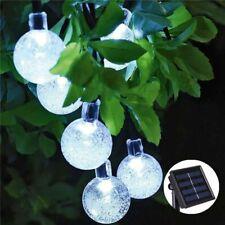 NEW 20/30/50 LED Crystal ball Solar Lamp Power String Lights Outdoor Garden
