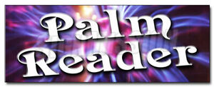 PALM READER DECAL sticker fortune teller crystal ball future mystic hand