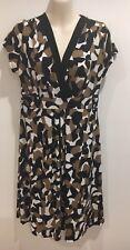 Jane Lamerton Black, Brown, Black & White design stretch dress Size 10