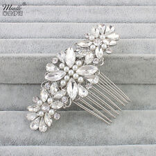 Bridal Hair Comb Wedding Hair Comb Swarovski Pearl Rhinestone Wedding Jewelry