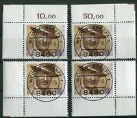 Bund 1561 Eckrand Ecke 1 - 4 gestempelt EST Vollstempel Weiden Formnummer 0 used