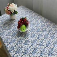 Chinese Blue and White Porcelain Lace Linen Tablecloth Decor G