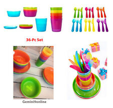 IKEA 36-Pc Complete Tableware Set KALAS Assorted Fun Colors Kids will love