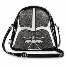 Disney Store Darth Vader Women's Crossbody Bag Glitter Accents Purse Star Wars