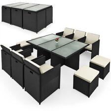 Poly Rattan Sitzgruppe Essgruppe Garten Lounge Gartenset Gartenmöbel Set Cube